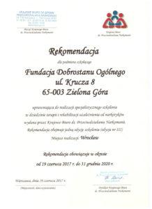 Rekomendacja KBPN dla Fundacji DO